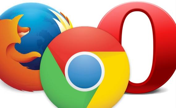Przeglądarki internetowe - Chrome, Mozilla, Opera